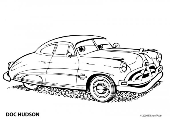 cars-doc-hudson-colorier
