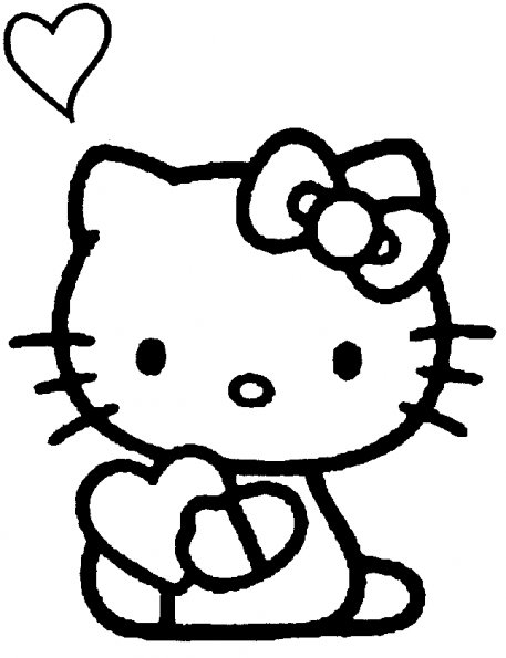 Coloriages de dessins anim s - Dessin de hello kitty facile ...
