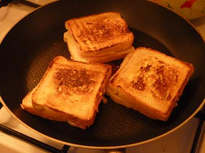Croque monsieur a la poele video