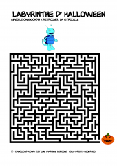 Labyrinthe halloween difficile