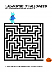 Labyrinthe Halloween facile