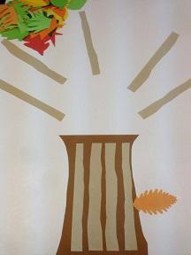 faire un arbre automne avec diff rentes feuilles de papier de couleur. Black Bedroom Furniture Sets. Home Design Ideas