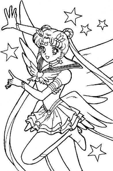 Coloriages de dessins anim s - Coloriage sailor moon ...