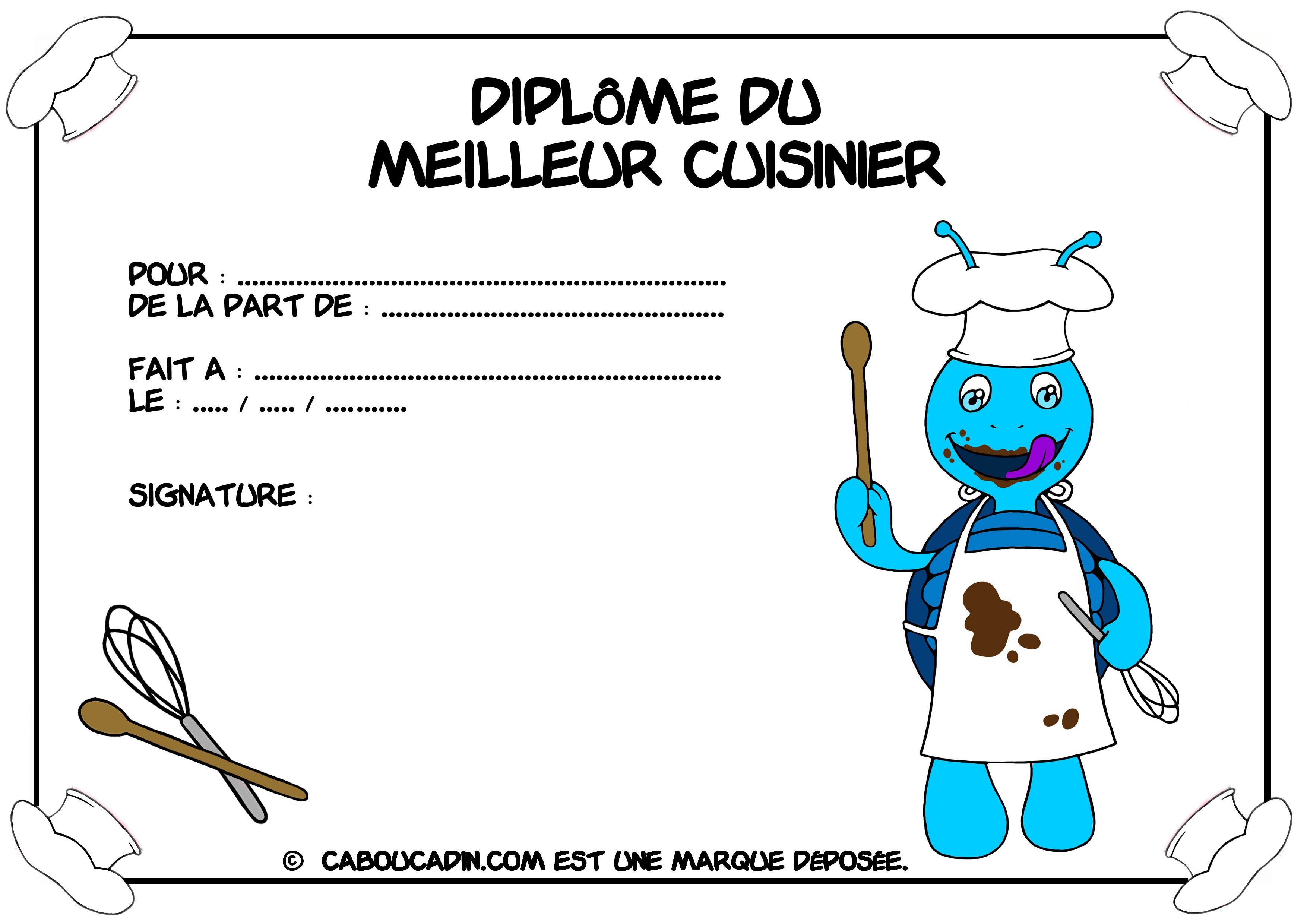 Dipl me imprimer pour les enfants - Jeux de cuisine professionnelle gratuit ...