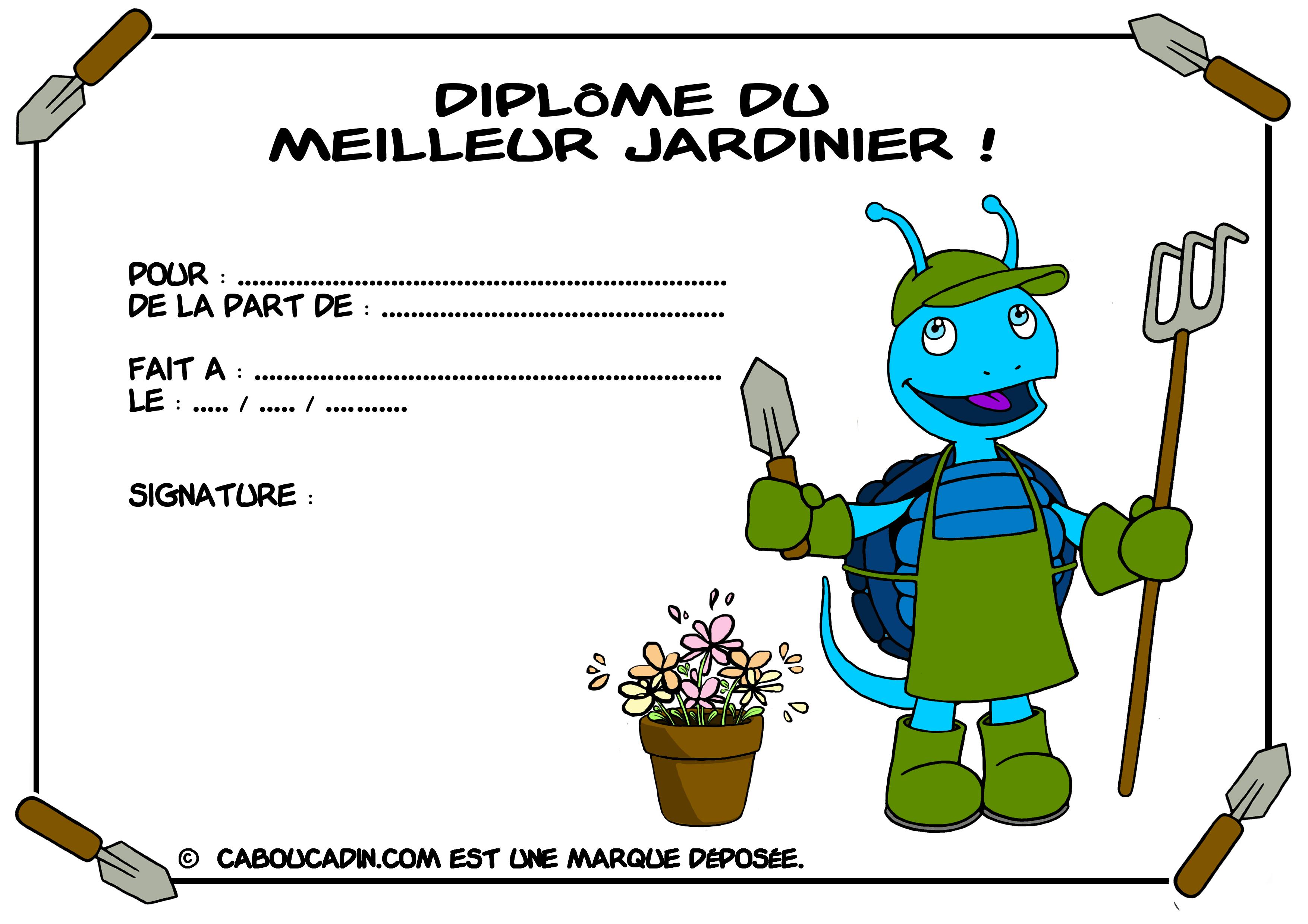 Dipl me imprimer pour les enfants for Jardinage le monde