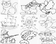 Apprendre dessiner en maternelle - Relier 9 points avec 3 traits ...