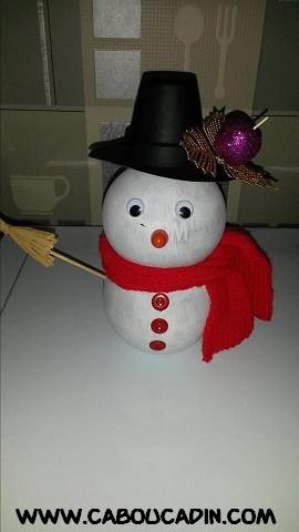 Faire bonhomme de neige avec une bouteille en plastique - Faire un bonhomme de neige avec des gobelets ...