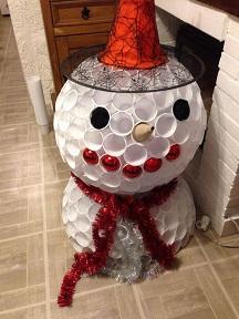 comment faire un bonhomme de neige avec des gobelets en. Black Bedroom Furniture Sets. Home Design Ideas