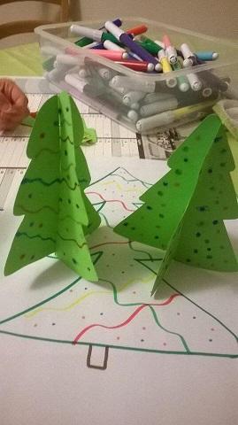 Comment faire un sapin 3d en carton - Patron de sapin de noel en carton ...